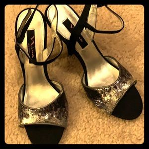 Nina Sequin Heels NEW